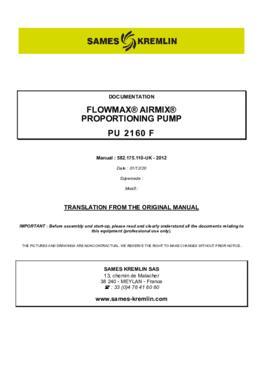 PU 2160F | User manual