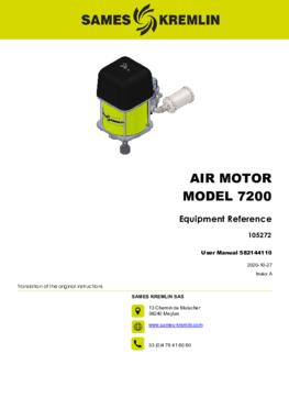 Motor 7200 REXSON Dispense | User manual