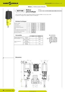 Moteur pneumatique REXSON 1000 - Fiche caractéristiques détaillées