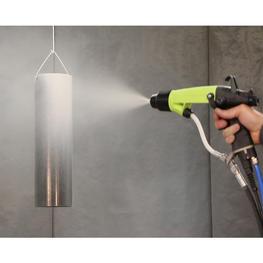 NANOGUN Airspray HR  sur pièce en métal