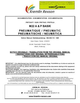 M22 A & P BASIK   Manual de instrucciones
