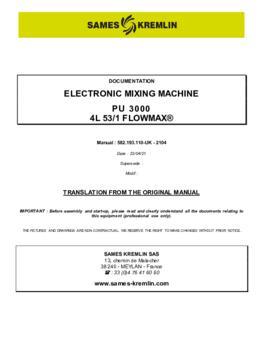 PU3000 4L 53/1 F | User manual