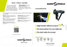 Leaflet K3 Manual Airmix® Electrostatic Spray Gun (English version) SAMES KREMLIN