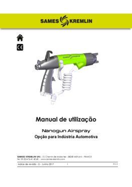 Nanogun Airspray (Opção para Indústria Automotiva) | Manual de utilização