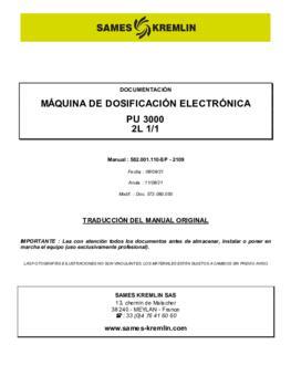 PU3000 2L 1/1   Manual de instrucciones