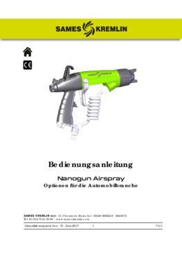 Nanogun Airspray (Optionen für die Automobilbranche) | Bedienungsanleitung