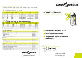 Leaflet SFlow™ 275 & 450 Manual Airless Spray Gun (English version) SAMES KREMLIN
