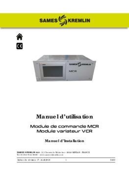 MCR | Manuel d'installation