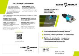 Díptico Pistola Automática Aerográgica A25F Flowmax SAMES KREMLIN