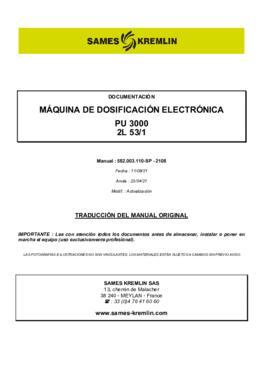PU3000 2L 53/1 | Manual de instrucciones