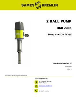 REX2B0360 REXSON Dispense | User Manual