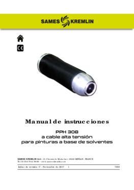 PPH 308 Cable alta tensión para pinturas a base de solventes | Manual de empleo
