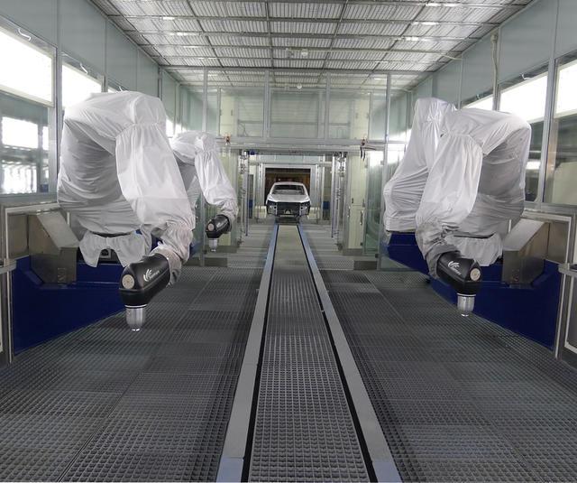 Ligne d'application entièrement robotisée