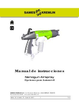 Nanogun Airspray: opciones para automóvil | Manual de empleo