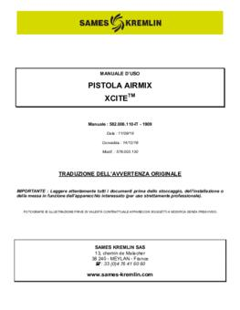 Xcite Airmix | Manuale d'uso