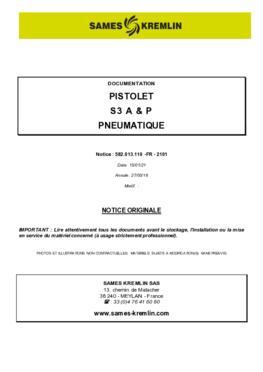 S3 A & P | Manuel d'utilisation