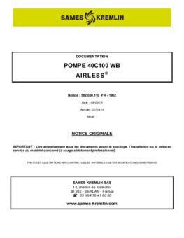 40C100 WB | Manuel d'utilisation