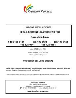 Regmaster| Manual de instrucciones
